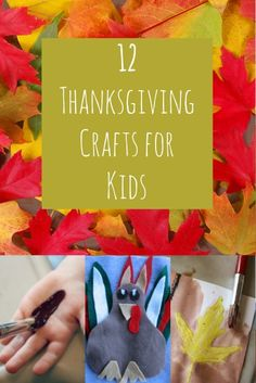 Your imaginative and creative kiddos will love these 12 Thanksgiving crafts for kids! These are quick and easy to prepare and will lead to hours of fun!