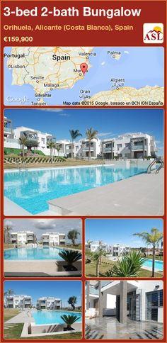 3-bed 2-bath Bungalow in Orihuela, Alicante (Costa Blanca), Spain ►€159,900 #PropertyForSaleInSpain