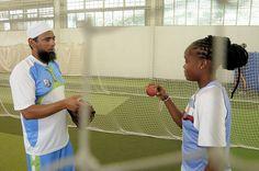Saqlain Mushtaq talks with Shaquana Quintyne