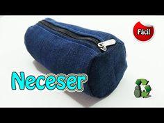 163. Manualidades: Neceser o estuche escolar con jeans (Reciclaje) Ecobrisa. - YouTube