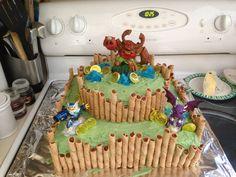 Dominic's skylander cake!
