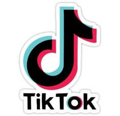 'Tiktok Logo' Sticker by KhloeKreations Stickers Cool, Preppy Stickers, Cute Laptop Stickers, Bubble Stickers, Phone Stickers, Printable Stickers, Planner Stickers, Logo Sticker, Sticker Design
