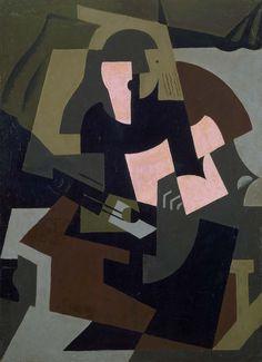 'Femme à la guitare' (1917) by María Blanchard (María Gutiérrez-Cueto Blanchard)