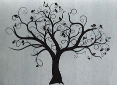 Swirly Tree 3 - uBer Decals Wall Decal Vinyl Decor Art Sticker Removable Mural Modern A287