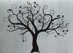 Swirly Tree 3 - uBer Decals Wall Decal Vinyl Decor Art Sticker Removable Mural Modern A287