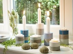 DIY-Anleitung: Kerzenständer aus Beton gießen via DaWanda.com