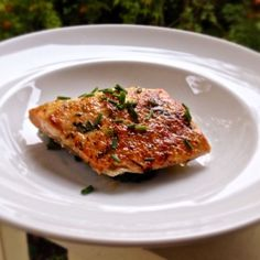 Broiled Salmon Misonese from Eve's Five Star Food cookbook - noted on Oprah.com as a delicious, deceptively simple dish!