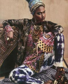 Borrowing from many ethnicities and cultures.  The Bohemian looks well traveled.  Diverse, layered...and retains some mystery