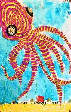 Tekenen en zo: Oscar de Octopus