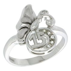 3ba6db505 ... where can i buy sterling silver quinceanera 15 aÑos butterfly ring cz  stones rhodium finished 1