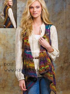 Katia Ribeiro Moda & Decoração Handmade: Colete em Crochê com sugestão do ponto