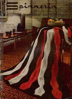 Spinnerin 148 Afghans Traditional Contemporary Knitting Crochet Patterns 1964 #Spinnerin #KnittingCrochetPatterns