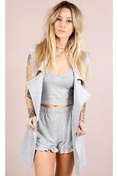Conjunto Much Love Mescla Fashion Closet - fashioncloset