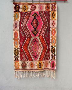 Vintage Kilim Rug Turkish Diamond Kilim Global by StarHomeStudio