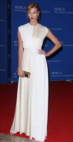 Karlie Kloss oozes vintage elegance at the White House Correspondents' Dinner | Daily Mail Online
