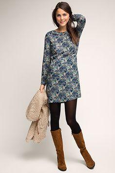 Esprit / Fließendes Kleid im Paisley-Look