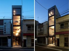 "Dubbed the ""1.8m House"", this narrow home in Japan features a number of design ideas to make the most of its confined living spaces: http://humble-homes.com/the-1-8m-house-in-tokyo-by-yuua-architects/"