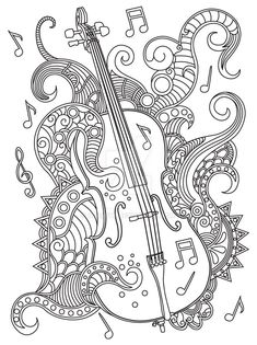 Music Adult Coloring Pages Lovely 17 Best Images About Music Coloring Pages for Adults On Coloring Book Pages, Coloring Sheets, Zentangle, Music Notes Art, Doodle Characters, Free Adult Coloring, Classroom Art Projects, Music Drawings, Music Images