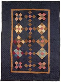 Nine Patch Crib Quilt, c. 1900, Ohio
