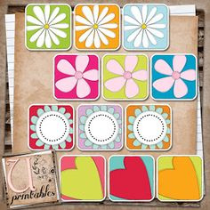 U printables by RebeccaB: FREE Print/Print and Cut - Daisy Chain - Silhouette Studio Print and Cut file included