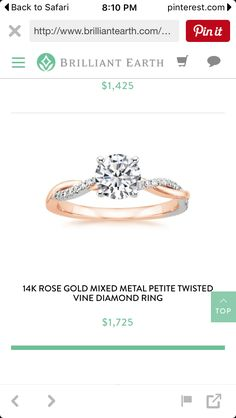 Infinity two tone engagement ring                              …