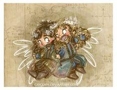 The Hobbit BotFA - Fili and Kili by caycowa