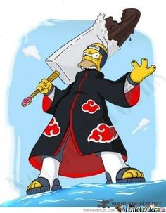 The Simpsons / Naruto Crossover Akatsuki, Naruto Shippuden, Naruto Characters, Disney Characters, Fictional Characters, Watch Cartoons, Cartoon Stickers, Computer Animation, Naruto Funny