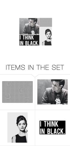 """I think in black"" by books-are-infinite ❤ liked on Polyvore featuring art"