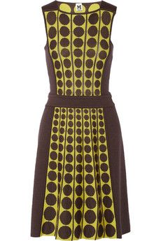 M Missoni Dotted fleece wool-blend dress | THE OUTNET