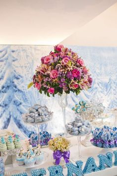 Incredible Frozen birthday party! See more party planning ideas at CatchMyParty.com!