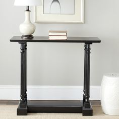 Cape Cod Black Console Table | Overstock.com -- oooh! It comes in black! could they go under the windows?