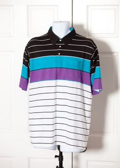 A personal favorite from my Etsy shop https://www.etsy.com/listing/499701996/vintage-80s-90s-colorful-mens-polo-blue