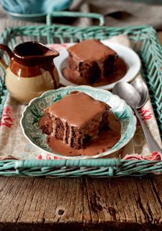 This chocolate sponge with chocolate custard recipe brings back memories of that rare school dinner treat. Here, the classic dessert is back and bette