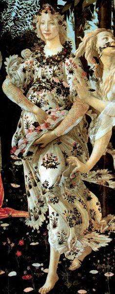 Flora ,Sandro Botticelli Spring (Primavera) 1482 detail