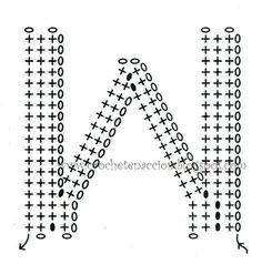 Letra W Crochet En Acción: abecedario