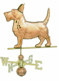 Scottie Dog Copper Weathervane