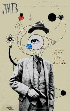 "Saatchi Art Artist Loui Jover; Collage, ""deconstructed William Burroughs"" #art"