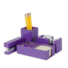 Bright Up Purple Desk Accessories Set
