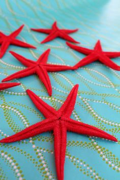 Hey, I found this really awesome Etsy listing at https://www.etsy.com/listing/175441495/red-painted-starfish-3-4-3pcs