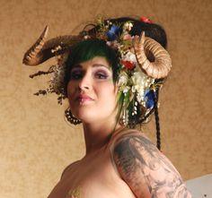 Maenad Solstice Ram Horn Headdress by idolatre on Etsy