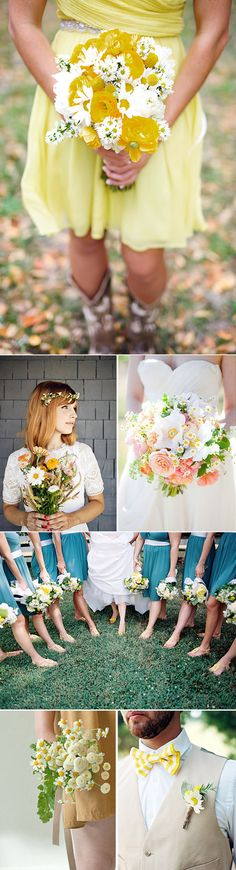 Margaritas en las bodas: la flor silvestre. Daisy wedding inspiration.