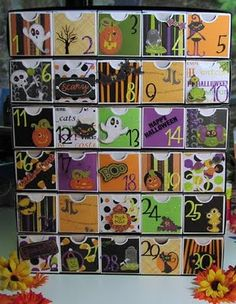 Halloween count-down advent calendar.