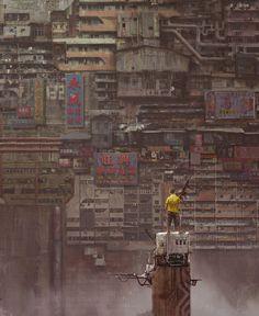 Cyberpunk, Future, Dystopia, Babel 02