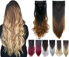 Synthetic Hair Extensions, Clip In Hair Extensions, Curly Clip Ins, Loose Curls, Dip Dye, Wigs, Hair Care, Delivery, Hair Beauty