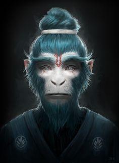 ArtStation - Blue monkey, Jean-Michel Bihorel