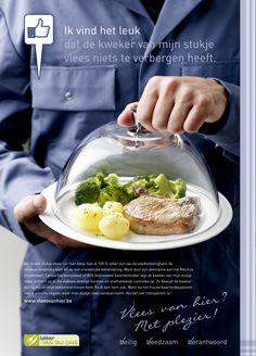Campagne van Vlam, Vlaams Centrum voor Agro- en Visserijmarketing. Dit soort campagnes creëert een categoriebehoefte en geen merkvoorkeur.