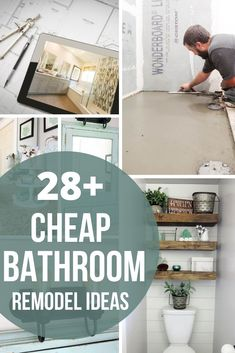 Are you working on your next bathroom remodel, but are afraid to break the bank? Here in this article, we give 29+ cheap bathroom remodel ideas incorporating 9 ways we saved money on our recent master bathroom renovation! #remodel #bathroom #cheap #ideas