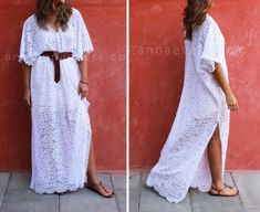 Diy Dress, Kaftan, Diy Tutorial, Sewing, Lace, Crafts, Tutorials, Jewelry, Dresses