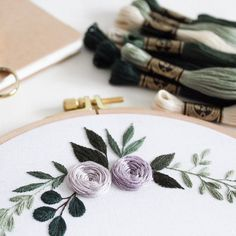 Beautiful, contemporary embroidered florals stitched by @perestidem_ For more embroidery inspiration, visit DMC.com to see our hundreds of FREE patterns. Owl Patterns, Lace Patterns, Flower Patterns, Crochet Embellishments, Crochet Cord, String Art Patterns, Flamingo Pattern, Headband Pattern, Friendship Bracelet Patterns