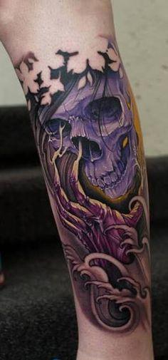 Resultado de imagen para tattoo skull color
